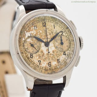 1939 Vintage Chronograph LONGINES 2-Register Chrono Stainless Steel