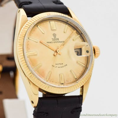 1970's Men's Vintage TUDOR By ROLEX Prince Osterdate 14K Yellow Gold