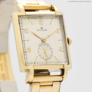1947 Men's Vintage ROLEX Precision 14K Yellow Gold & Stainless Steel