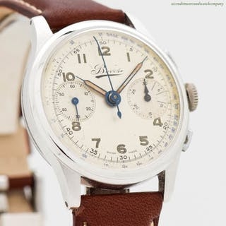 1950's Vintage Chronograph BOVET 2-Register Chrono Stainless Steel