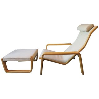 Ilmari Lappalainen for Asko Pulkka Lounge Chair or Recliner 1963