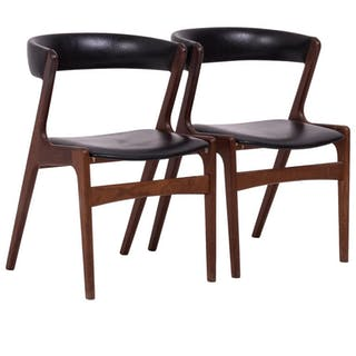 Midcentury Danish Fire Chairs by Kai Kristiansen, Set of Two