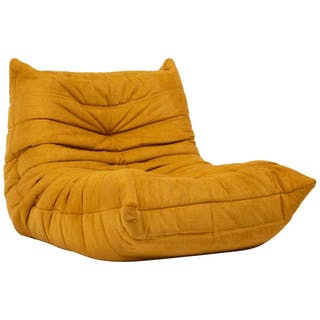 Togo Yellow Fabric Fireside Chair by Michel Ducaroy for Ligne Roset