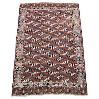 Fine Antique Yomud Main Carpet, 1890