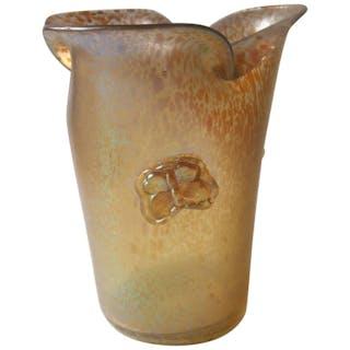 Czech Art Deco Loetz Butterfly Glass Vase, Candia Papillon circa 1920