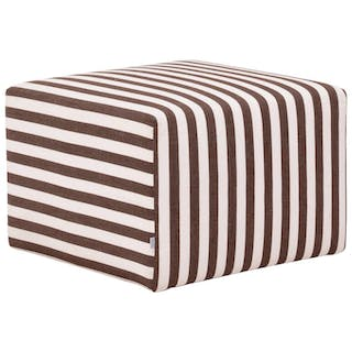 B&B Italia P60 Brown Striped Fabric Ottoman by Antonio Citterio