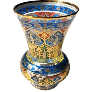 Islamic Style German Fritz Heckert 'Jodhpur' Glass Vase -Victorian