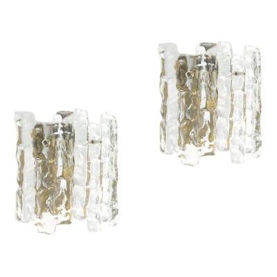 "Pair of Austrian Kalmar ""Palazzo"" Ice Crystal Sconces"