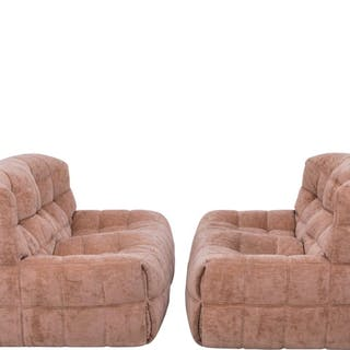 Pair of Pink Kashima 2-Seat Sofas by Michel Ducaroy for Ligne Roset