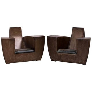 Pair of Steel Easy Number One Chairs by Jonathan Singleton, 1990s