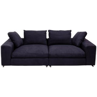 Vintage Slate Grey Fabric Sectional Sofa by Flexform