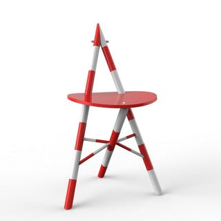 """Freja"" chair, red/white"