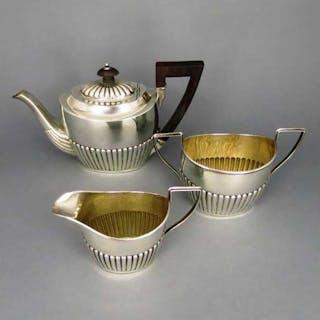 Teeset Birmingham 1890 in Silber