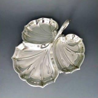 Blattförmige Cabaret-Schale in Sterling Silber