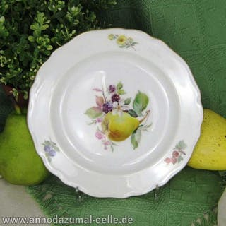 Porzellan Teller Meissen mit Birnenmotiv