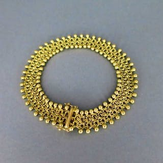 Wunderschönes goldenes Armband geflochten Friedrich Binder Mönsheim
