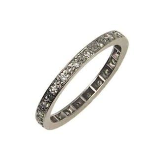 18 ct. Gold Eternityring / Verlobungsring mit Diamanten Vintage der