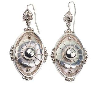 Sterling Silber Ohrringe aus dem viktorianischen England um 1870