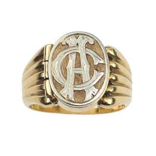 """18 ct. Gold Ring / """"Poison-Ring"""" aus dem späten viktorianischen England um 1900"""