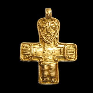 Viking Gold Filigree Cross Pendant, c. 8th - 10th Century A.D.