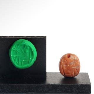 Neo Babylonian Red Jasper Seal, c. 700-400 B.C.