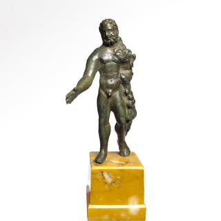 Roman Bronze Figure of Hercules, c. 1st-2nd Century A.D.