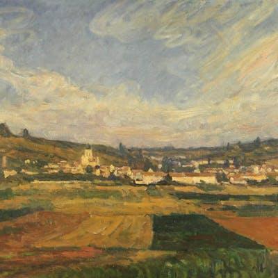 Abel LAUVRAY - Vue générale de Vétheuil