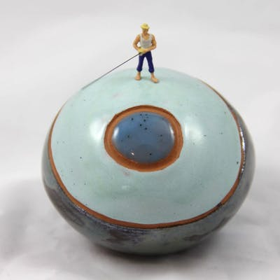 Yannick LE BLOAS - Sphère, mini-monde, le pêcheur