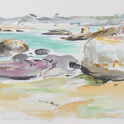 Jean-Francois CONTREMOULIN - Trégastel, La baie de Sainte Anne depuis