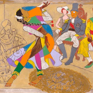 Kathak Dance Performance at the Maharaja Darbar - Maqbool Fida Husain