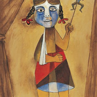 Girl with a Sling - Paritosh Sen