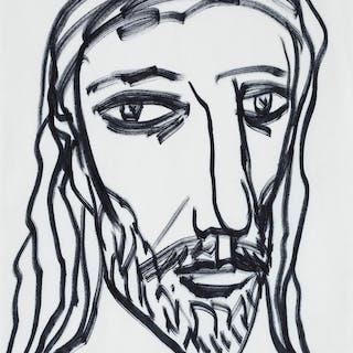 Untitled (Head of Christ) - Francis Newton Souza