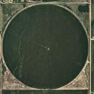 Aerial Views, Circle Irrigation 01 - Bernhard Lang