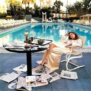 Faye Dunaway, 1977 - LIGHT BOX - Terry O'Neill