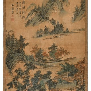 CHINE, Dans le style de WU Guandai (1862-1929)