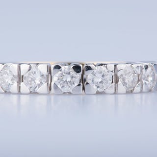 18 kt. Gold, White gold - Ring Diamond