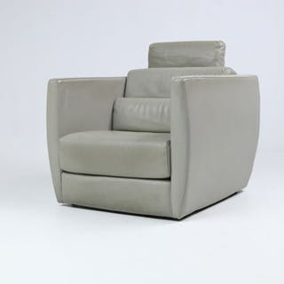 Christophe Delcourt for Roche Bobois - large leather armchair