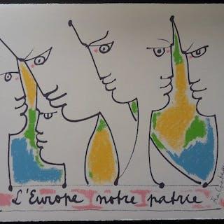 Jean Cocteau (1889-1963) - L'Europe ouverture sur les cinq continents