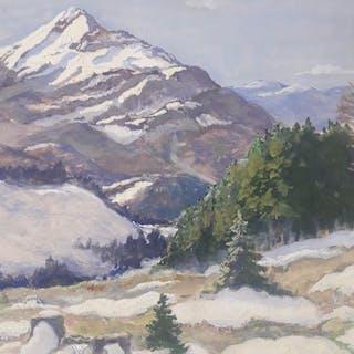 Karl Ludwig Prinz (1875-1944)- Vue sur les Alpes