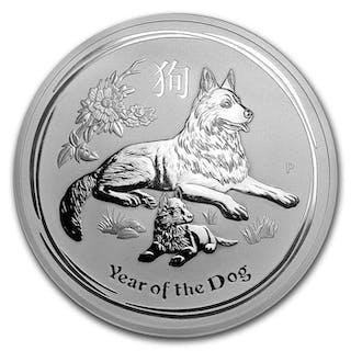 Australien - 30 Dollar 2018 Lunar II Jahr des Hund 1000 Gramm 999 - Silber