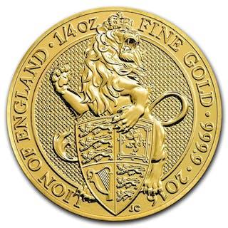 Vereinigtes Königreich - 25 Pounds 2016 Lion of England - ¼ oz - Gold