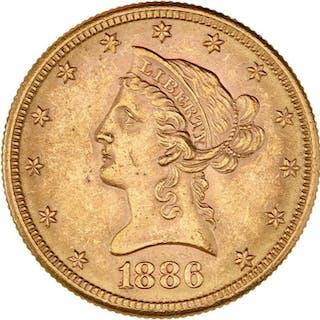 United States - 10 Dollars 1886-S Liberty Head - Gold