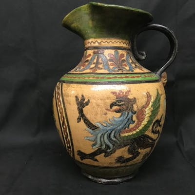 Versatoio in ceramica graffita policroma Montopoli - Ceramica
