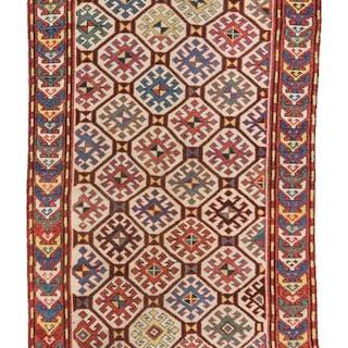 Rug,Fahrola Kazak - Rug - 192 cm - 108 cm - Wool on Wool - 19th century