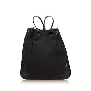 eb4c5f6fe3cd Gucci - Guccissima Jacquard Drawstring Backpack – Current sales –  Barnebys.com