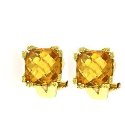 Pair of earrings with citrine quartz