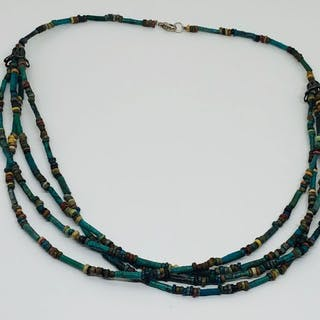 Ancient Egyptian Faience Necklace Turquoise