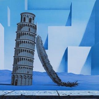 René Magritte (after) -La Nuit de Pise (Night in Pisa)
