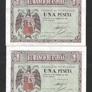 España - 6 x 1Peseta 1937 (2)