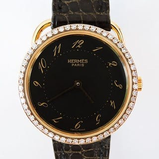 Hermès - Arceau - 18k Yellow Gold Diamonds Quartz Ladies...